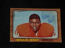 WILLIE WEST 1966 TOPPS SIGNED AUTOGRAPHED CARD #86 MIAMI DOLPHINS