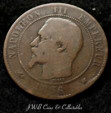 1856-K NAPOLEON III FRANCE 10 CENTIMES COIN