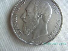 LEOPOLD II -5 FRANCS - ROI DES BELGES - 1873 SILVER***