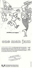 ONE MAN JAM BY KURT BRAUNOHLER ADVERTISING UNUSED COLOUR POSTCARD