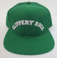 SLIPPERY ROCK UNIVERSITY HAT CAP VINTAGE RETRO VTG STITCH MENS SNAPBACK NCAA