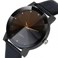 New Fashion Luxury Wrist Watch Quartz Clock Leather Stainless Steel Men Women