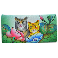 Anna by Anuschka Ladies Wallet 2 Fold 3 ID Two Cats
