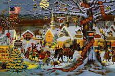 "CHARLES WYSOCKI  ""Small Town Christmas""  23.875"" X 16"" SIGNED and Numbered Print"