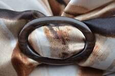 Schalring Tuchring scarf ring scarf ring Echt Ebenholz ebony schwarz braun NEU