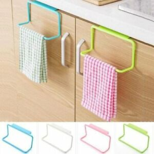 Over Door Tea Towel Rack Bar Hanging Holder Rail Organizer Bathroom Kitchen Tool
