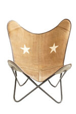 Star Eyes Chair Iron Stand and Leather Cover for Indoor Outdoor Chair