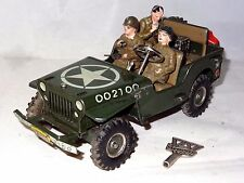arnold west germany TINPLATE MOTOR US ARMY JEEP WITH 3 PASSENGERS - 2100
