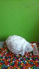 "NWT NEW Carter's MUSICAL White Lamb SHEEP Plush 9"" Lovey Wind Up Baby Toy"
