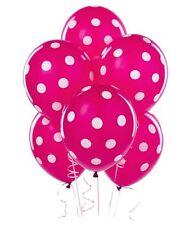 "6 pcs 12"" Polka Dots Balloons Dark Pink Party Decorations, birthday celebrations"