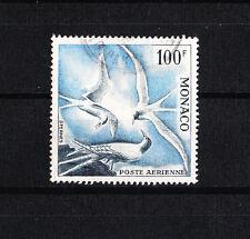 MONACO timbre  poste aérienne  100f  oiseaux de mer dent 13  num: 66  oblitéré