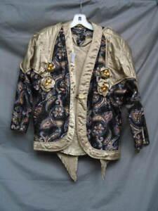 Vintage 70's Disco Medieval Renaissance King Prince Noble Merchant Tunic & Coat