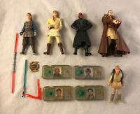 5 Star Wars Darth Maul, Anakin, Obi-Wan Action Figures w/ Accessories - Hasbro
