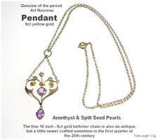 9 Carat Amethyst Pendant/Locket Art Nouveau Fine Jewellery