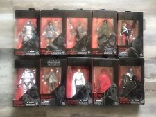 Hasbro Star Wars Black Series 6? Lot Of 10 (includes TAKARA TOMY Kylo Ren)