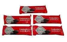"Tabasco ""Spicy Dark Chocolate"" Bar - Net wt. 1 oz (28g) - 5 single bars #00111"