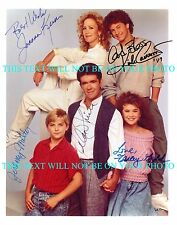 GROWING PAINS CAST SIGNED AUTOGRAPHED 8x10 RP PHOTO ALAN THICKE +