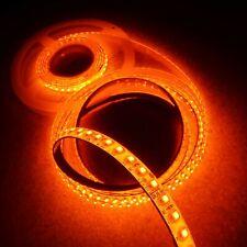 Amber LED Strip 24V 9.6W/m-IP65-10mm wide-5m roll-SMD3528