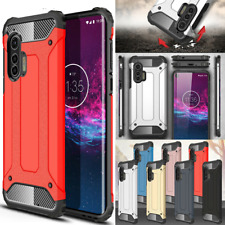 For Motorola Edge/ Edge Plus Case,Rugged Armor Shockproof Hybrid Phone Cover