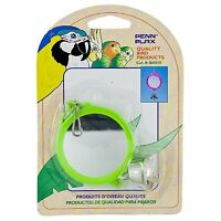 Penn Plax Round Mirror with Bell for Bird Cage