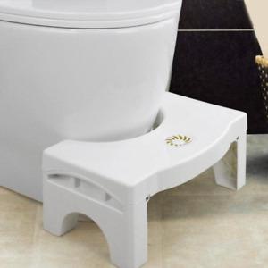 Toilet Footstool Foldable Constipation Bathroom Plastic Non Slip Squatting Stool