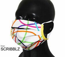 Nasen-/Mundmaske Design SCRIBBLZ WHITE - Spuckschutz -