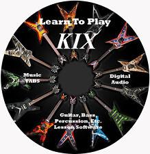 KIX Guitar TABS Lesson CD for Windows,Mac,Linux 9 Songs!
