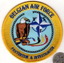 NATO Belgium Belgian Air Force Investigation Squadron Patch                 xwzf