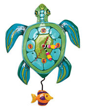 Beautiful SUP DUDE? Turtle Designer Wall Clock by Allen Designs