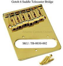 NEW GOTOH TELECASTER MODERN 6 SADDLE BRIDGE GOLD