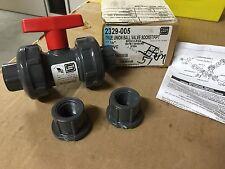 """NEW Spears 2329-005 True Union Ball Valve Socket/Fipt 1/2"""" PVC EPDM-O-Ring"""