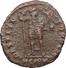 Valentinian I w Victory & labarum 364AD Ancient Roman Coin Christ monogr i30871