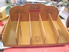 BS6 Vintage RARE Guaranteed Long Life Hosiery clothing store display wood wooden