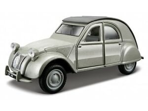 CITROEN 2 CV 1952 1:32 Car model die cast models cars diecast burago grey