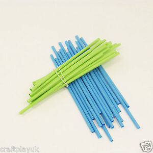 Paper Craft Straws X 100  (50 Blue and 50 Green)  (21cm) Arts and Crafts