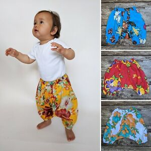 Children's floral harem trousers baggy hippie hippy kids baby boho pants 0-8 yrs