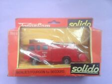 Solido 350 B Diecast fire engine (Boxed)