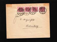 Germany Inflation Period Magdeburg 1923 Joined 4 x 250 Thousand Marks Cover z86