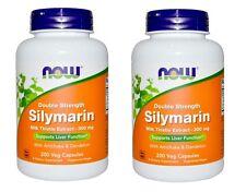 Now Foods Silymarin, Milk Thistle Extract, 300 mg, 200 Veg Capsules, 2 Pack
