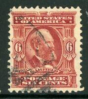 USA 1902 Garfield 6¢ Claret Scott # 305 VFU I944 ⭐⭐⭐⭐⭐⭐