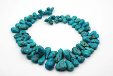 """132 grams Top Drilled Nugget Shape Turquoise Bead, 16"""" long"""