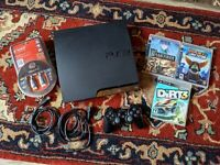 Sony PlayStation 3 (PS3) Slim 120GB w/ Controller & 3 Games - Works Perfectly