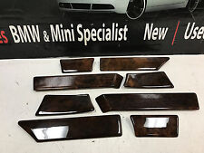 BMW DOOR WOOD TRIMS SET E34 525I 530I 540I M5 OEM FRONT & REAR 8 PIECE