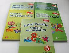 Primary Math Extra 5 Set(US Edition) -Workbooks/Texbooks 5A+5B+ Extra Practice 5