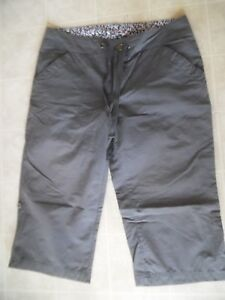 "Columbia Pants Hiking Outdoor Sz 8 Gray Capri 18"" Inseam Roll Up Bermuda Shorts"