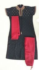 Indian Ladies Dress, Used, Size M, Chest 36, Chiffon, Color Black