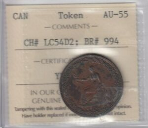 Br. 994 Sailing Ship Design 1812 Token - CH#LC54D2 - ICCS AU-55
