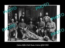 OLD LARGE HISTORIC PHOTO OF CAIRNS  QLD, THE CAIRNS RIFLE CLUB TEAM c1903