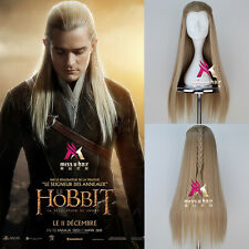 Lord of the Rings The Hobbit Legolas Cosplay Costume Party Hair Wig+Free Wig Cap