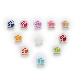 50pcs Shank Dog claws Nylon Buttons Sewing Scrapbooking Decor Home 13x11mm